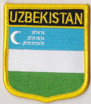 Uzbekistan Embroidered Flag Patch, style 07.